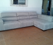 sofá retrátil reclinavel + chaise